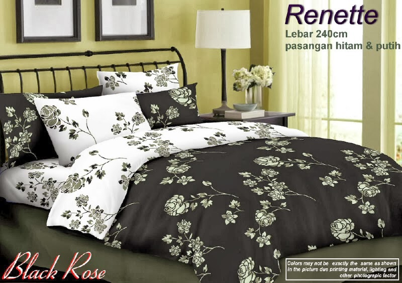 Sprei Renette Motif Black Rose