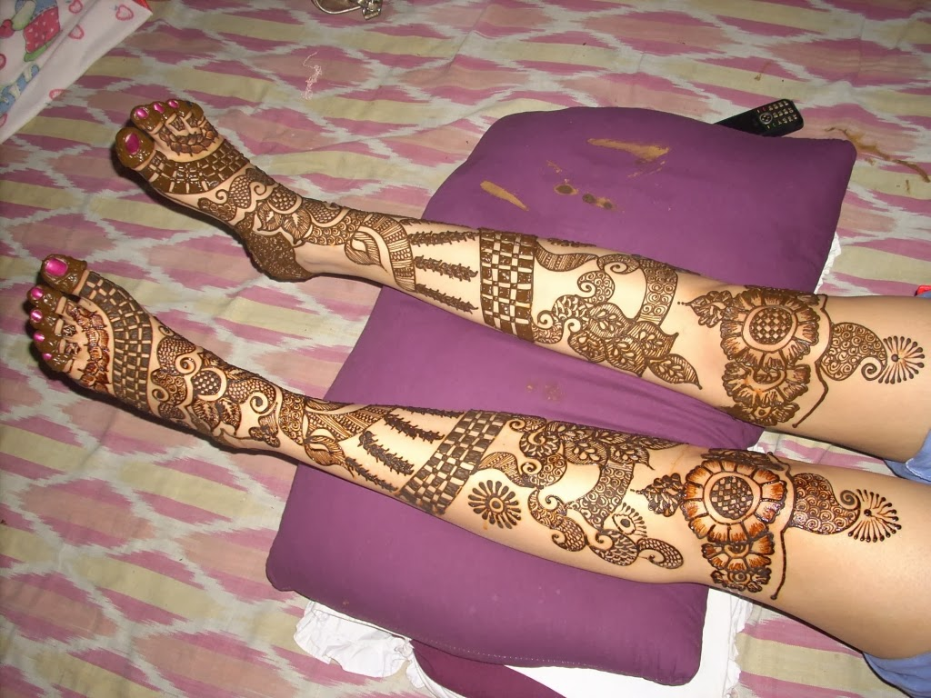 Full Leg Mehndi : Beautiful latest simple arabic pakistani indian bridal