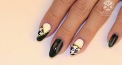 Houndstooth nails tutorial