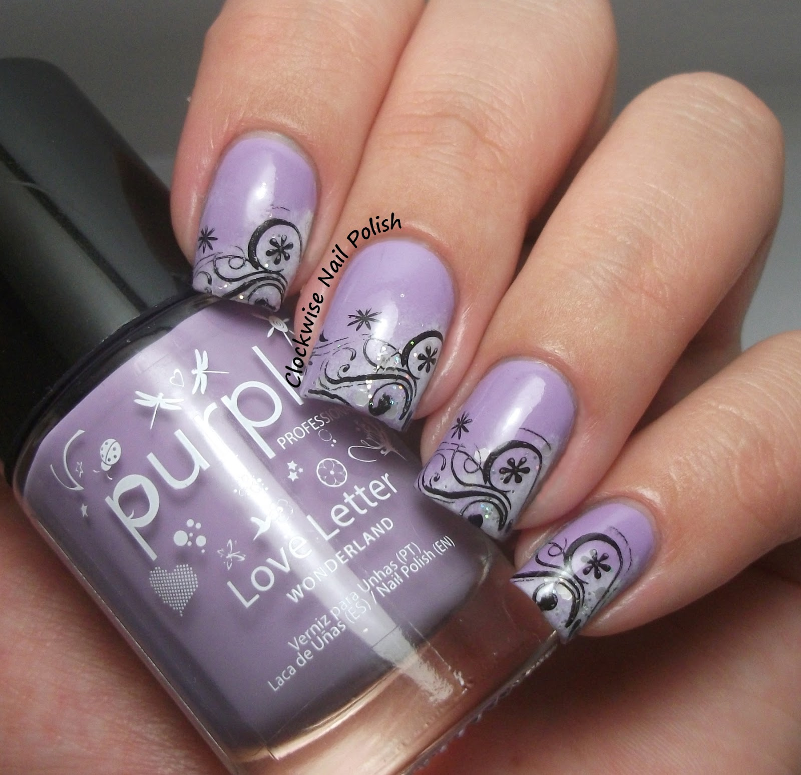 The Clockwise Nail Polish Purple Professional 103 Love Letter