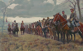 Morgan's Raiders by Mort Künstler