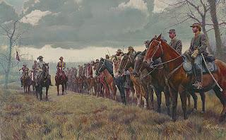 Morgan's Raiders by Mort Künstler