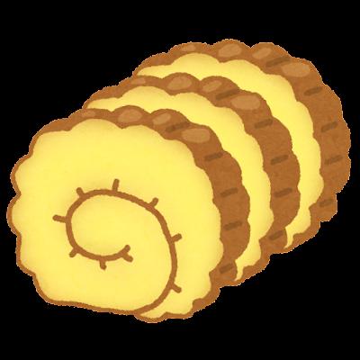 伊達巻のイラスト(おせち料理)