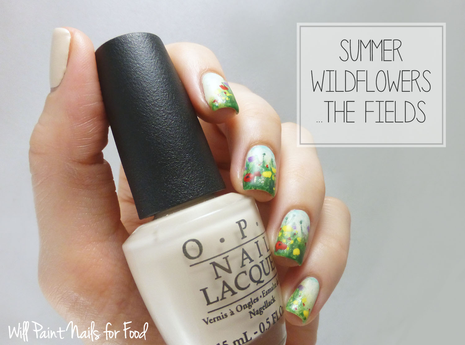 Summer wildflowers nail art