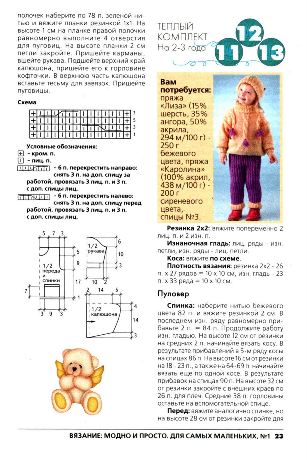 Вязание для самых маленьких описание и схемы