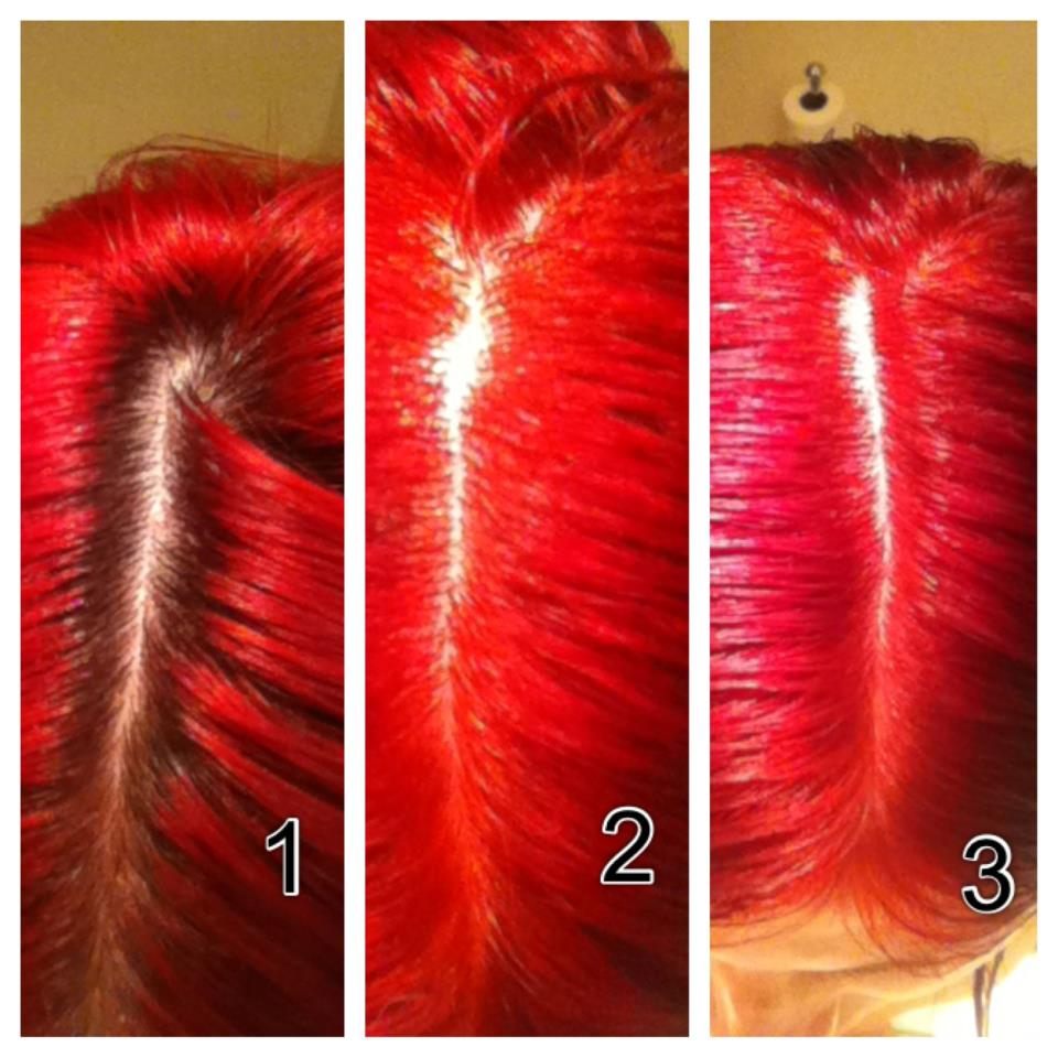 Red My Hair Used L39oreal Hicolor Highlights In Magenta 40