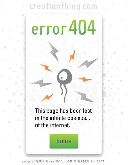 Error 404 pagina