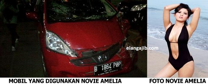 Video Foto Kecelakaan Novie Amelia Tabrak 7 Orang