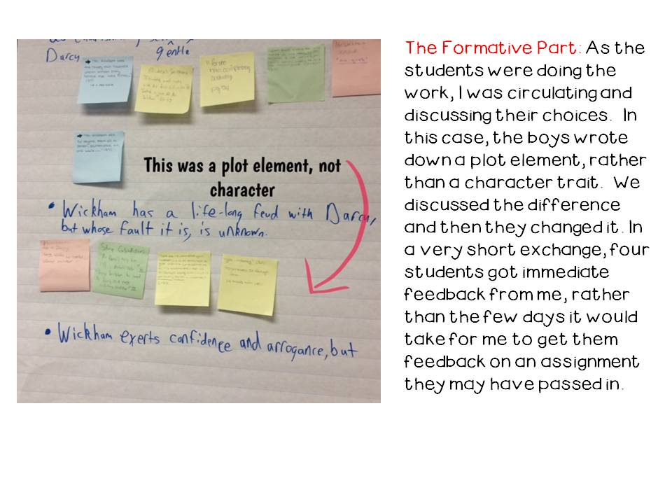 Chart Paper PostIts And Formative Assessment  Room