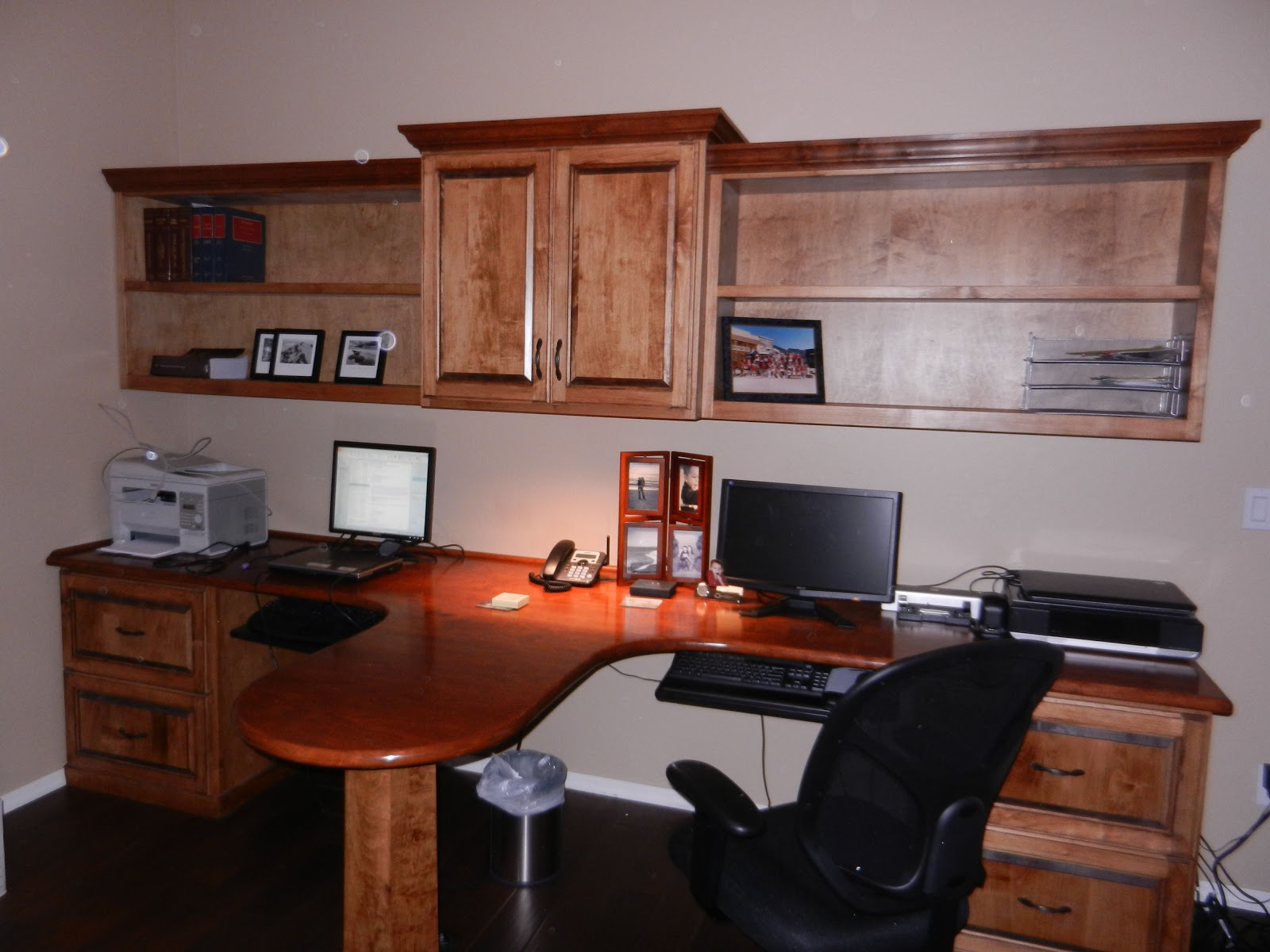 As you like it designs llc the two person office installed - Two person office desk ...