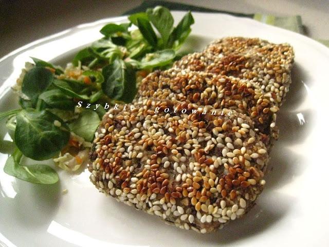 Sezamowe kotlety z soczewicy i fasoli adzuki