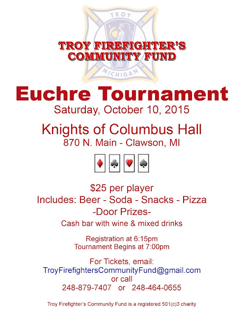 Charity Euchre Tournament Clawson MI