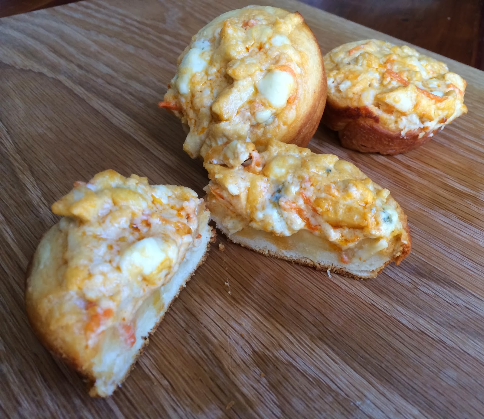 Savory Buffalo Chicken Muffins