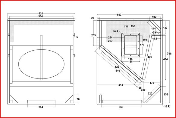 projeto de caixa acústica sub T-18