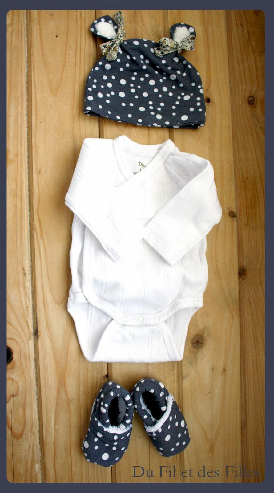 Tuto bonnet naissance jersey - Patron couture bebe naissance ...