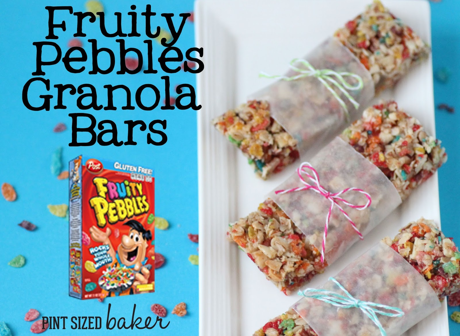 Healthful pebbles cereal granola bars pint sized baker the kids are going to love getting these pebbles cereal granola bars in their lunch ccuart Choice Image