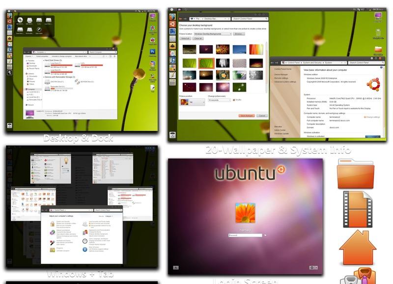 Ubah Tampilan Windows 7 Menjadi Ubuntu Natty