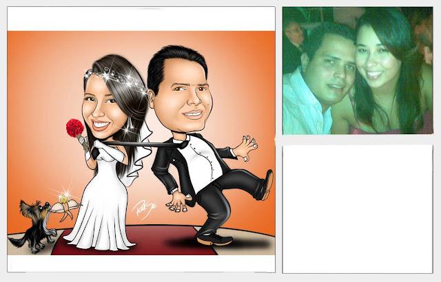 linda caricatura para casamento !!!