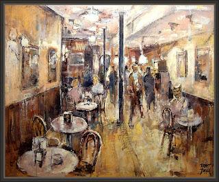 CAFE-MADRID-CAFETERIAS-PINTURAS-CUADROS-PINTOR-ERNEST DESCALS-