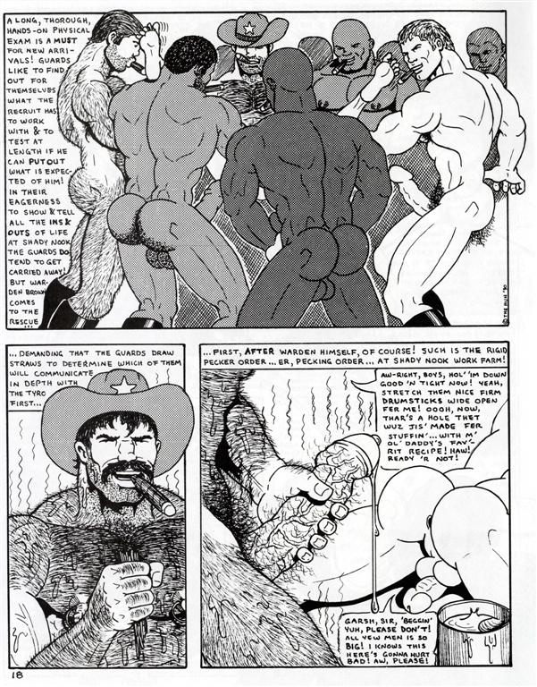 Gay Comics WARDEN BROWN! by THE HUN