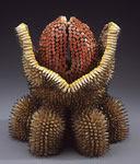 esculturas de Jennifer Maestre hechas con trozos de lápices de colores (click para ampliar)