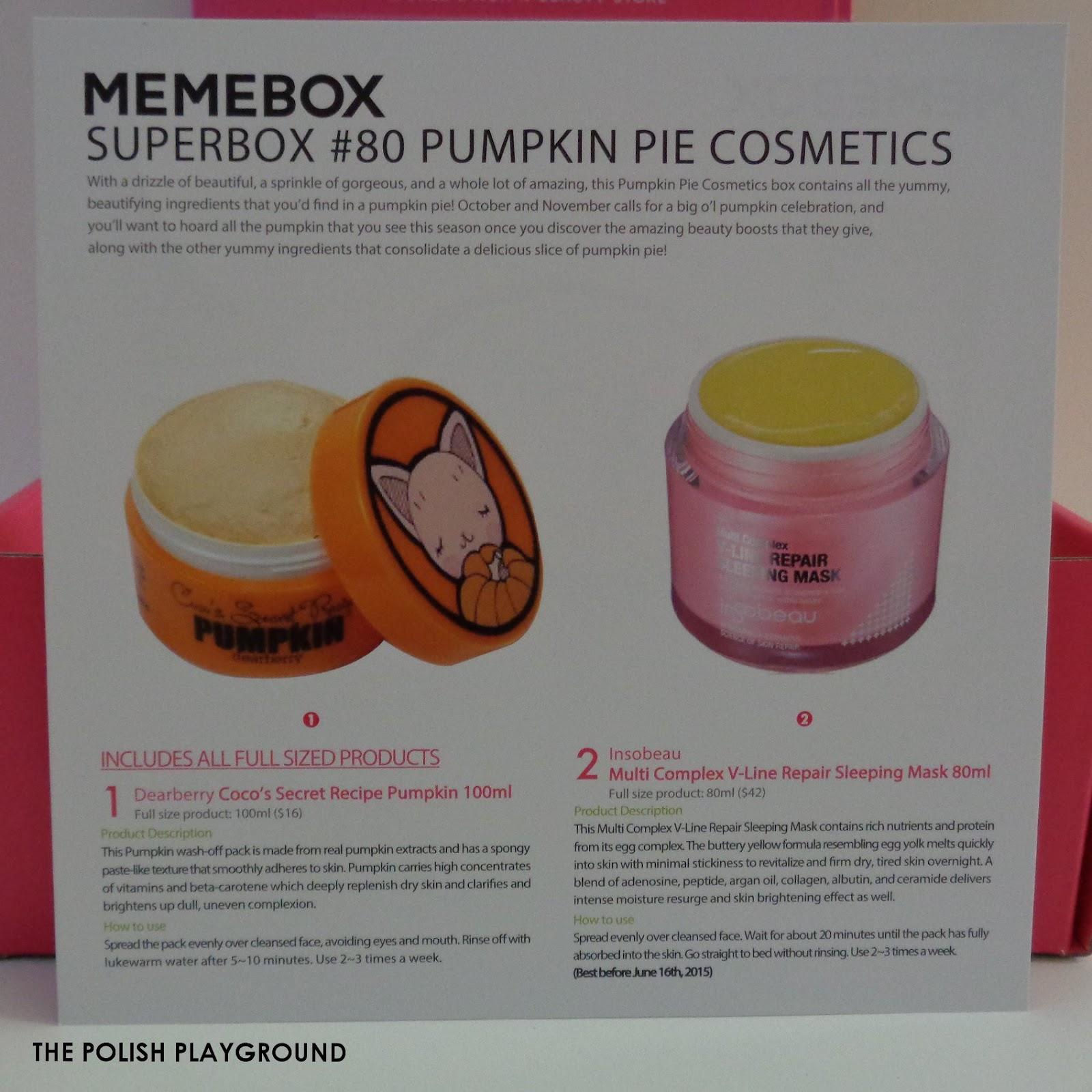 Memebox Superbox #80 Pumpkin Pie Cosmetics Unboxing