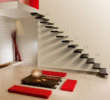 Home  Design on Home And Interior Design  Black Modern Interior Design Staircase
