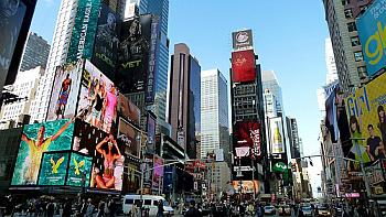 time square, billboard, reklama, budynki