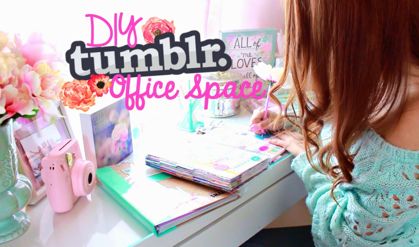 office space tumblr. DIY Tumblr Inspired Office/Desk Space Office