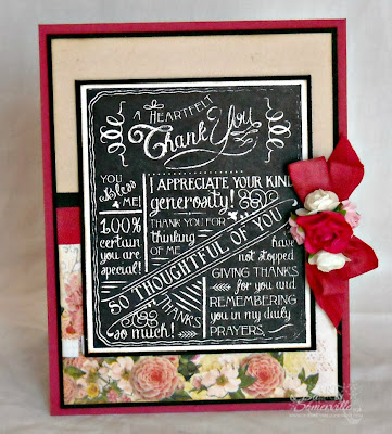 Our Daily Bread Designs Stamps Chalkboard - Birthday/Thank You.  Designer Lisa Somerville