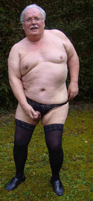 naked gradpa - mature cross dresser - oldermen crossdresser