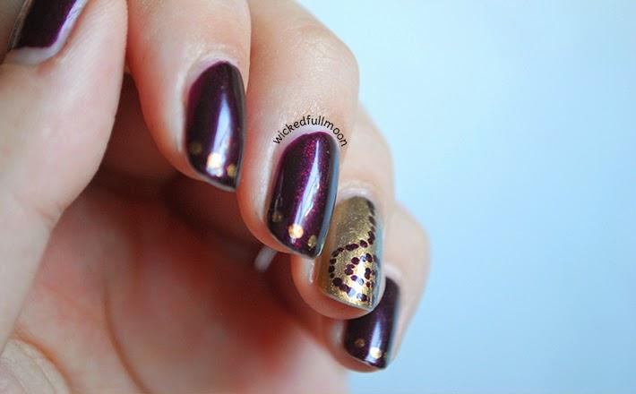 nail art manicura reto puntos espiral