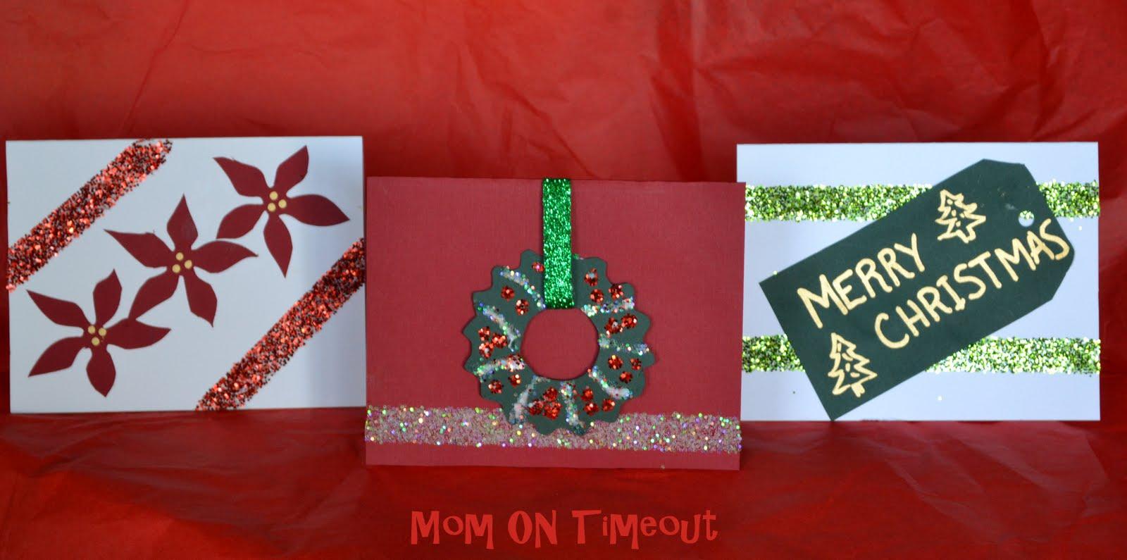 Make Your Own Christmas Cards Gluenglitter Cbias Mom