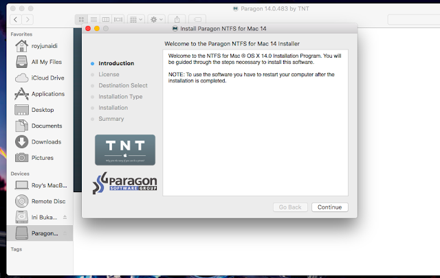 Install Paragon NTFS