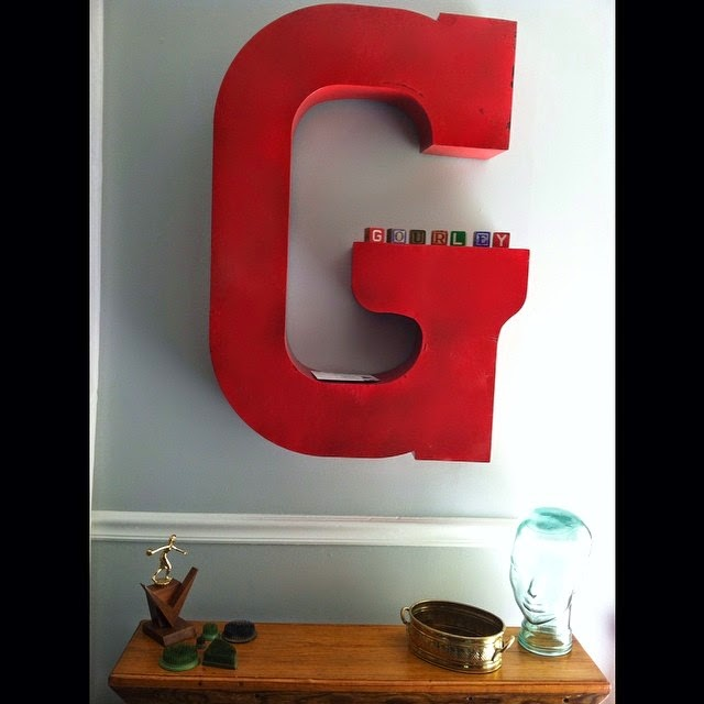 #thriftscorethursday Week 27 | Instagram user: jwgourleygirl shows off this Vintage Marquee Letter