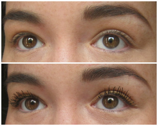 YSL Baby Doll Mascara before and after pictures