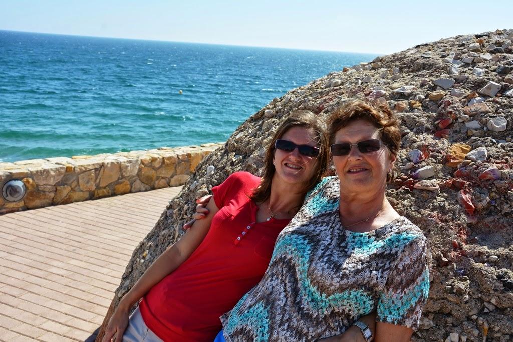 Salou Beach mother and daughter