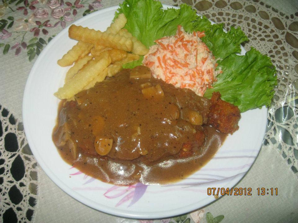 Resepi Cikgu Ani Chicken Chop With Mushroom Blackpepper Sauce
