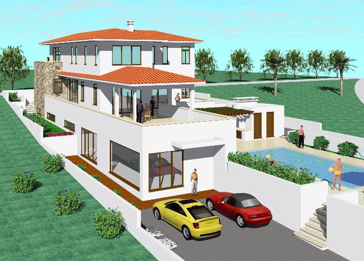 New home designs latest modern double story home design exterior views - House with swimming pool design ...