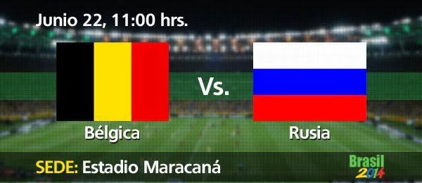 ver Bélgica vs Rusia