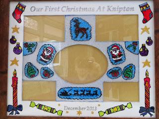 Glass painted secret santa gift