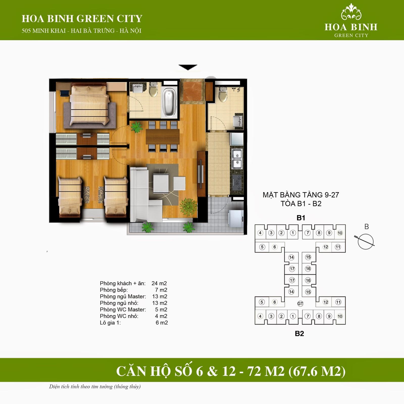 Hòa Bình Green City B 72m2