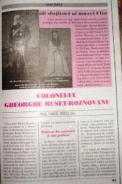 Prima pagină a articolului despre colonelul  Gheorghe Ruset-Roznovanu...