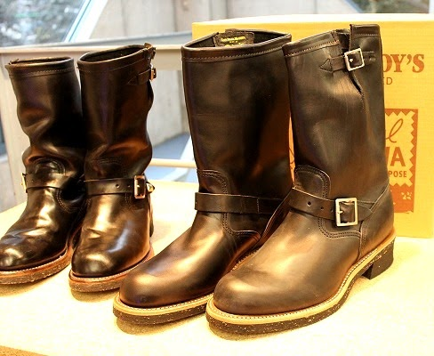 Vintage Engineer Boots: THE REAL McCOY'S HORSEHIDE CHIPPEWA ENGINEER BOOTS