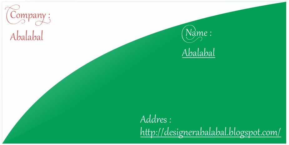 Desain Kartu Nama Format cdr