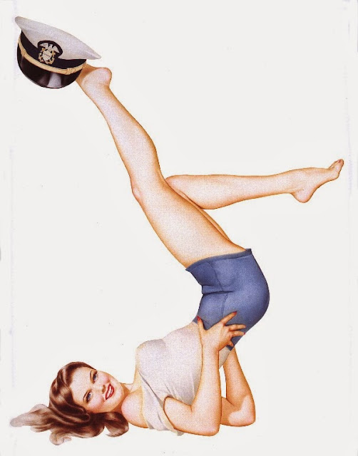 Navy Pinup Girl Art