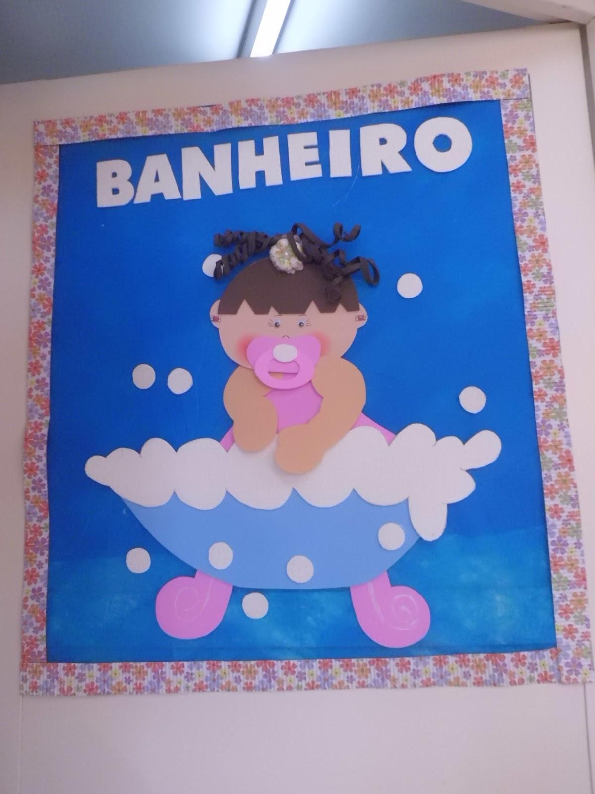 COMPARTILHANDO SABERES NA EDUCAÇÃO INFANTIL DECORAÇÃO DE SALA 20 -> Decoracao Para Porta De Banheiro Em Eva