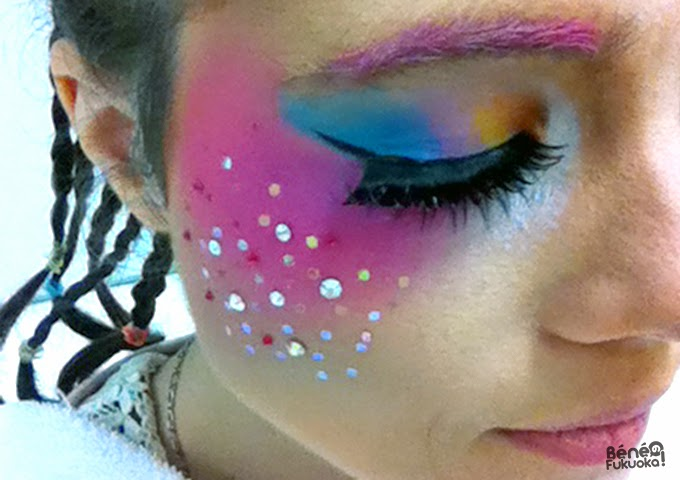 Close-up maquillage magical girl