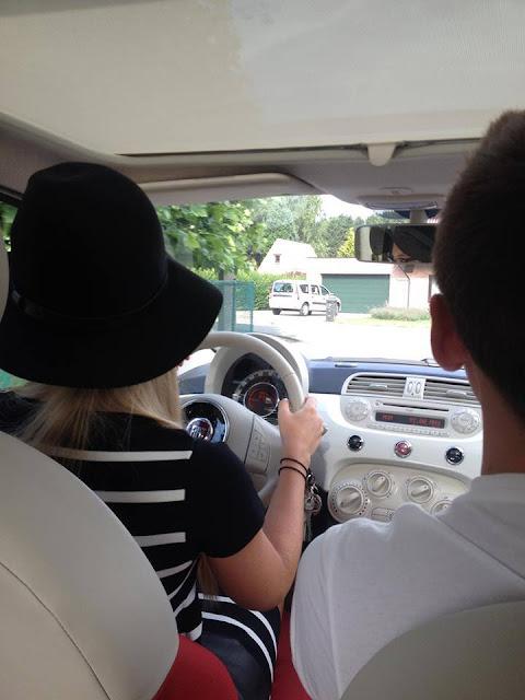 Pippa aan het stuur