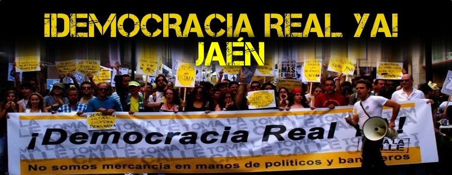 ¡Democracia real ya! Jaén